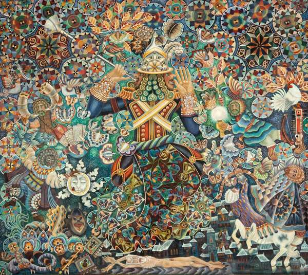 Untitled, 2000 (egg tempera on canvas)