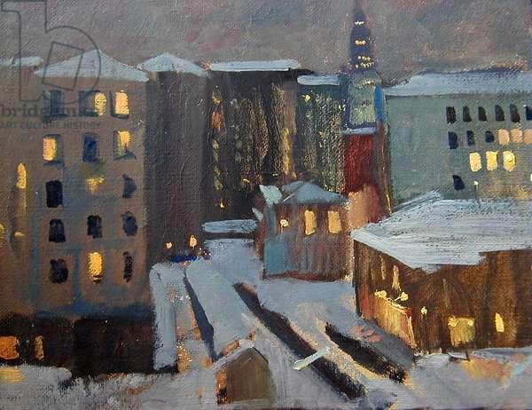 Moscow Windows, 1964 (oil on card)