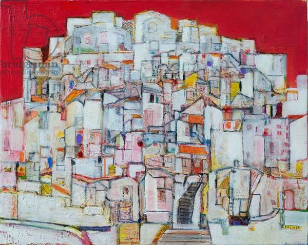 Hill Town (oil on canvas)