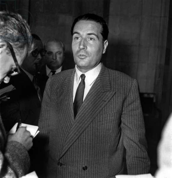 Francois Mitterrand, French Minister, Resigning, September 3, 1953 (b/w photo)