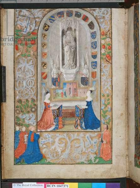 f.2v, Register of the Guild of St Anne, c.1476 (gold & bodycolour on vellum)