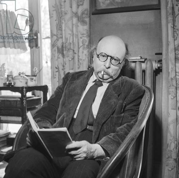 French writer Jean Rostand, April 17, 1951 (b/w photo)