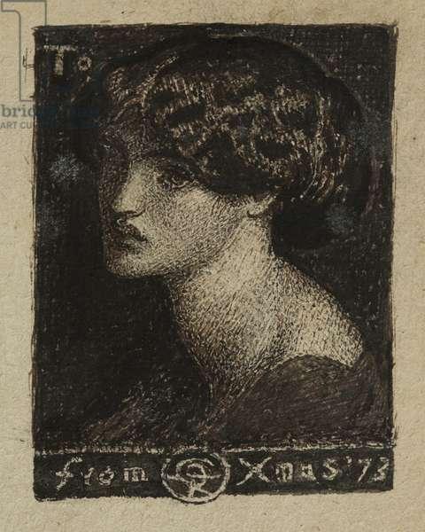 Jane Morris, 1873 (pen & ink)