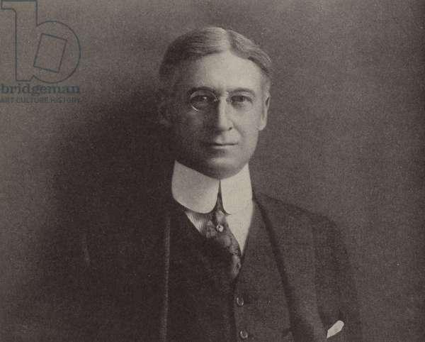 Bernard M Baruch, American financier who advised President Woodrow Wilson on supplying the US war effort in the First World War (b/w photo)