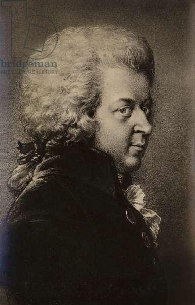 Portrait of Wolfgang Amadeus Mozart (engraving)