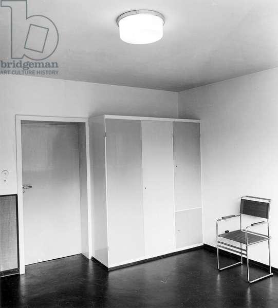 Interior of a children's room designed by Walter Gropius, c.1925-30 (b/w photo)