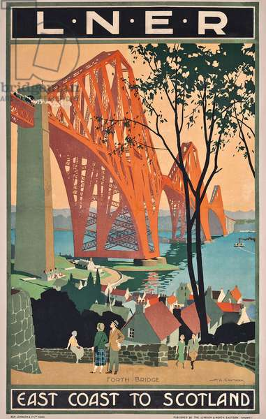 A London and North Eastern Railway poster advertising east coast journeys to Scotland,  (colour lithograph)