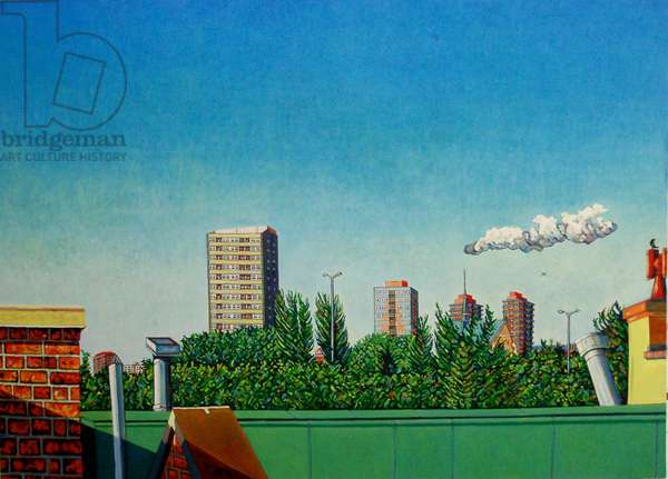 View of Canning Town, (oil on canvas)