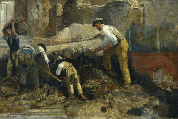 Excavations at Herculaneum, by Filippo Palizzi