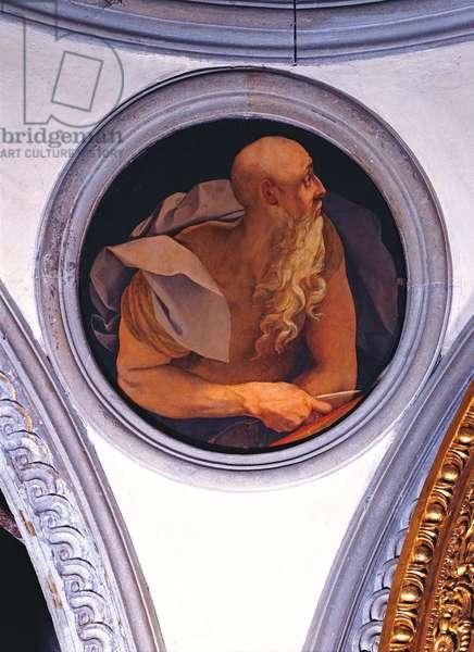 Saint John Evangelist, by Jacopo Carrucci also called Pontormo, 1525 - 1528, 16th Century, fresco