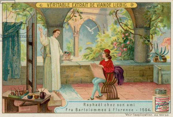 Raphael with his Friend Fra Bartolommeo (chromolitho)