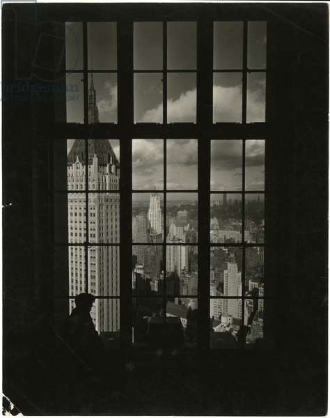Manhattan Company Building [Bank of Manhattan] seen from a window of the Cities Service Building, USA, c.1920-38 (gelatin silver photo)