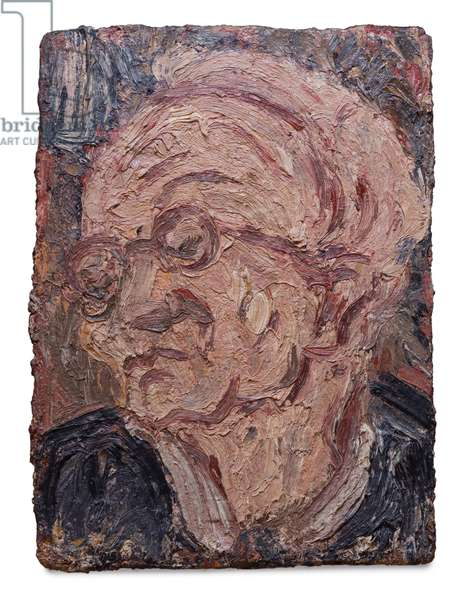 Head of Chaim, 1992 (oil on board)