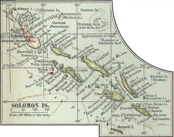 Map of Solomon Islands