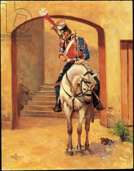 Trumpeter: Polish Lancer of the Imperial Guard, Service Dress 1810, 1989 (oil on board)