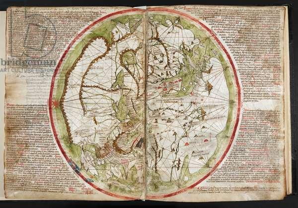 Map of the world, c.1320-25 (vellum)