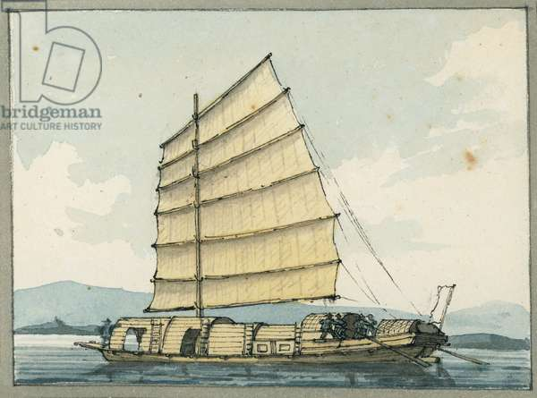 Chinese trading boat, 1809 (w/c)