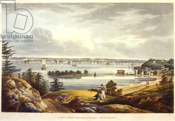 New York from Heights near Brooklyn, engraved by John Hill, undated (aquatint)