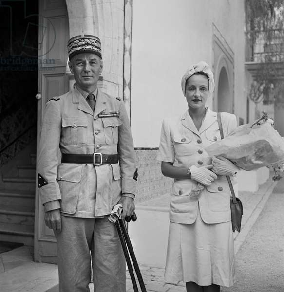 General Charles Mast, New Resident General of Tunisia, and Wife, Portrait, Tunis, Tunisia, Marjorie Collins for Office of War Information, June 1943