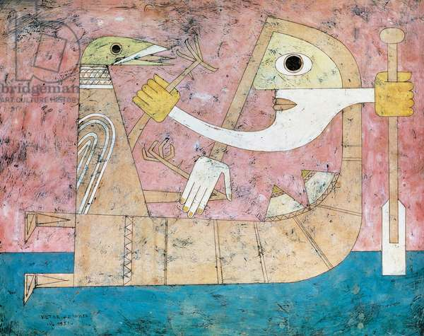 Consciousness of Shock, 1951, by Victor Brauner (1903-1966), encaustic on masonite, 64x80 cm. Romania, 20th century.