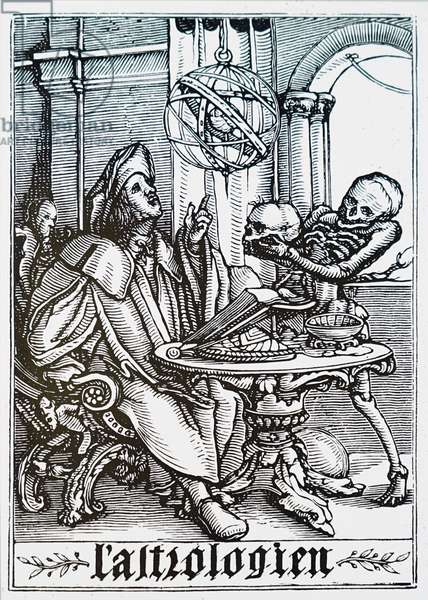 An Astrologer being visited by death