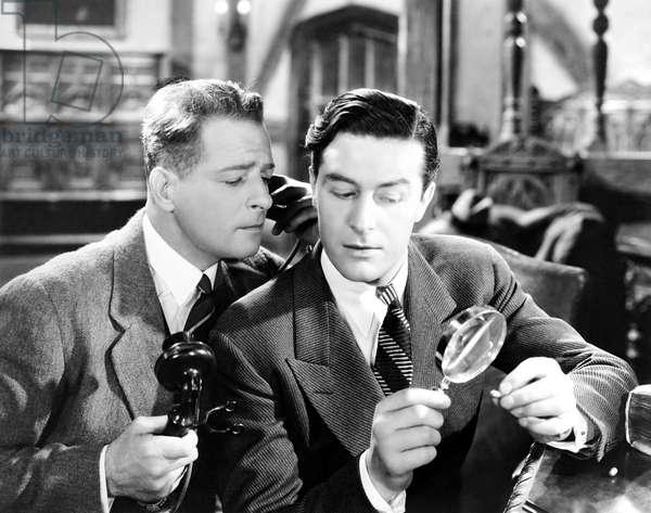 BULLDOG DRUMMOND ESCAPES, from left, Reginald Denny, Ray Milland, 1937
