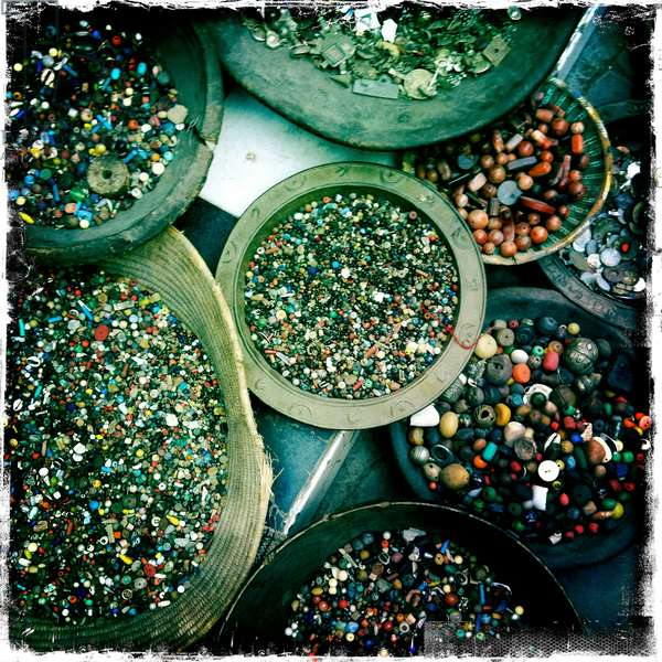 A close up of assorted beads in Marrakech
