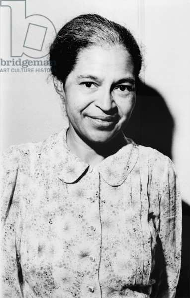 Rosa Parks was a member of the NAACP when she defied segregation laws by refusing to surrender her Montgomery Alabama bus seat to a White person in 1955. 1964 portrait