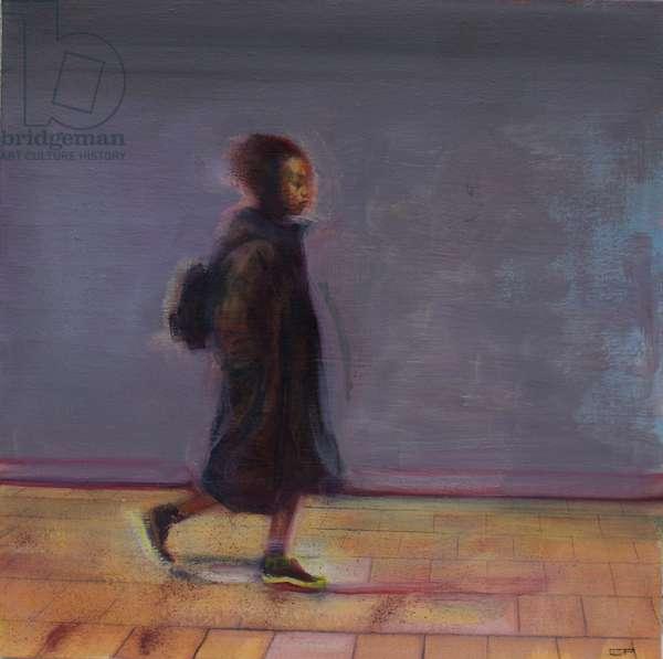 Untitled (Commuter) 2018 (oil on silk)