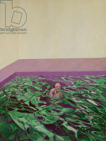 Man in Swimming Pool, 1966 (oil on canvas)