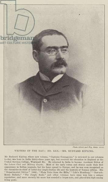 Mr Rudyard Kipling (b/w photo)