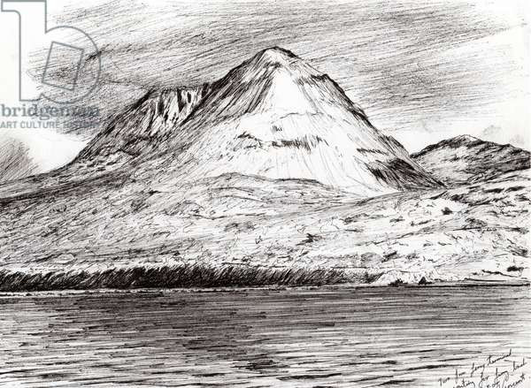 Paps of Jura, 2005 (ink on paper)