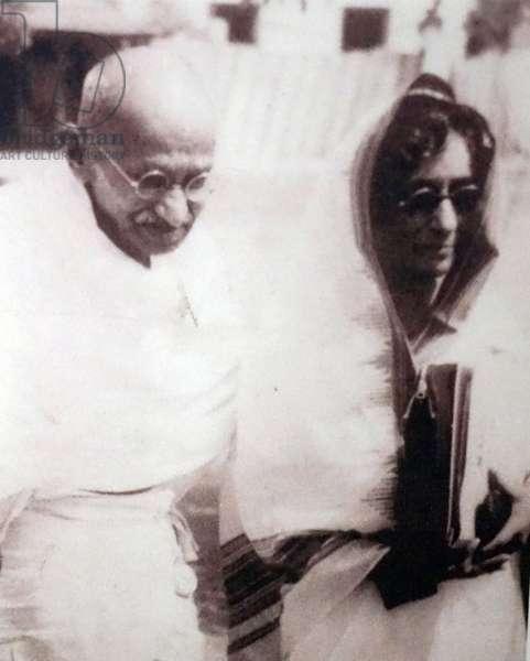 Mahatma Gandhi with Rajkumari Amrit Kaur