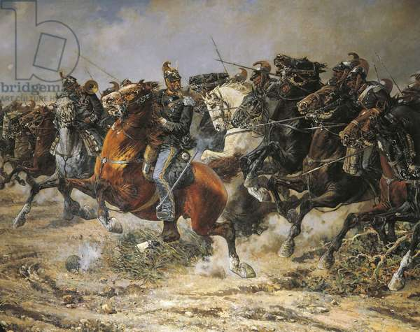Third War of Independence, Charge of the Genoa Cavalry at Custoza, 24 June 1866, painted by Giuseppe Gabani, 1846-1899, detail