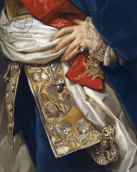 Portrait of Ferdinand IV, by Anton Raphael Mengs, detail, 1759-1760, oil on canvas, 1728-1779, 180x126 cm