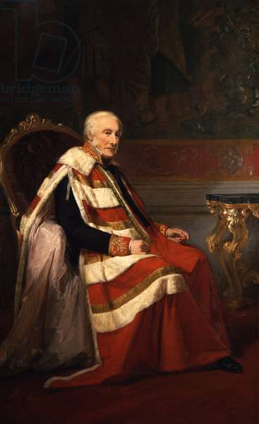 Portrait of George Percy, 5th Duke of Northumberland, 1866 (oil on canvas)