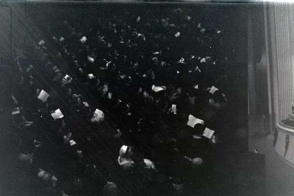 Performance in the opera in Rome, Italy 1940s (b/w photo)