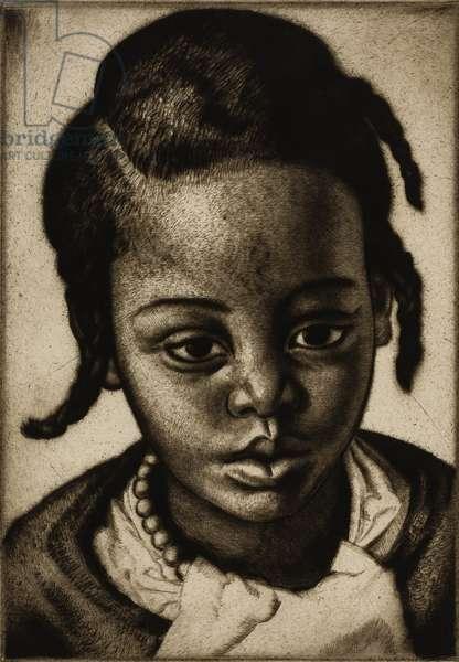 Juanita, 1928 (drypoint)