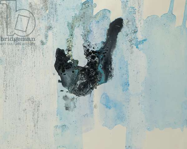Antarctic Ice Painting: A2, 2008 (Antarctic ice, acrylic, and mixed media on paper)