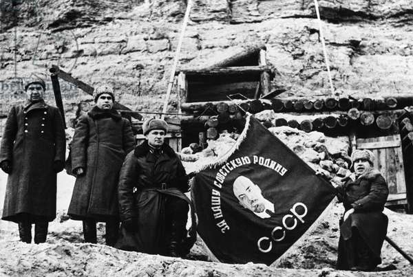 Presenting Of The Banner To The 39Th Division Of Guards During The Battle Of Stalingrad