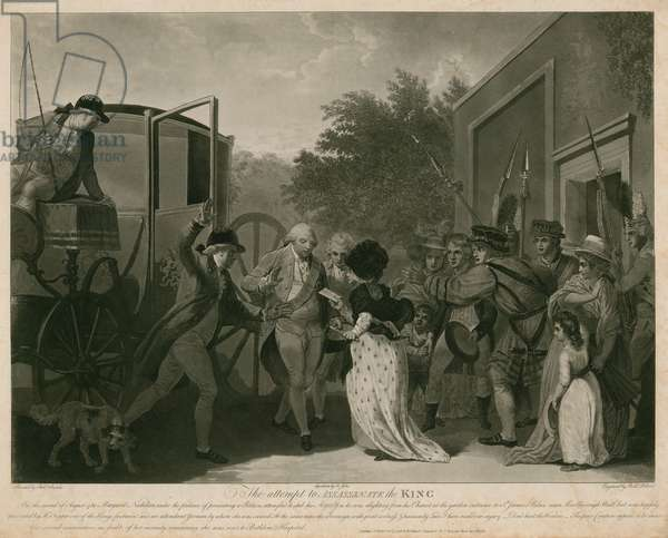The attempt to assassinate the King (engraving)