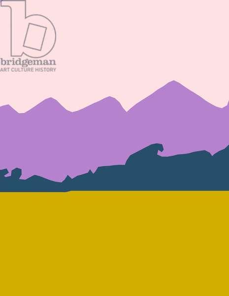 Nearby mountains,2016,(c-print)