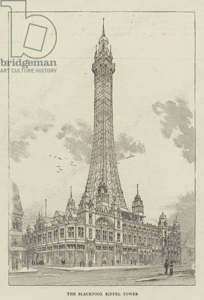 The Blackpool Eiffel Tower (engraving)