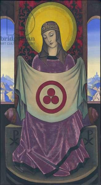 Madonna Oriflamma, 1932 (tempera on canvas)