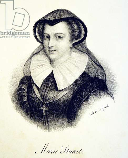 Mary, Queen of Scots, 1840 (litho)