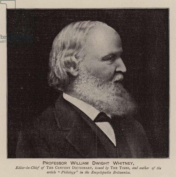 Professor William Dwight Whitney (engraving)