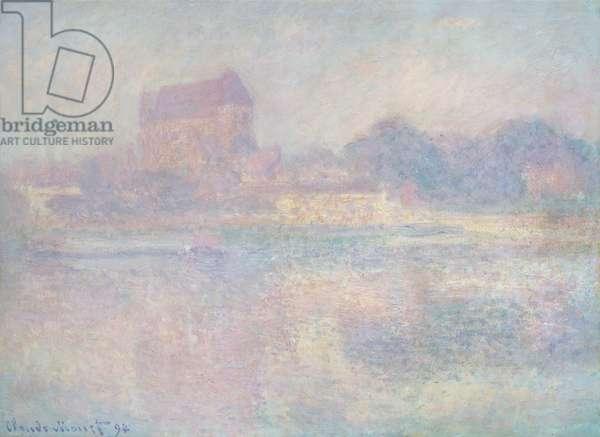 L'Eglise de Vernon, brouillard, 1884 (oil on canvas)