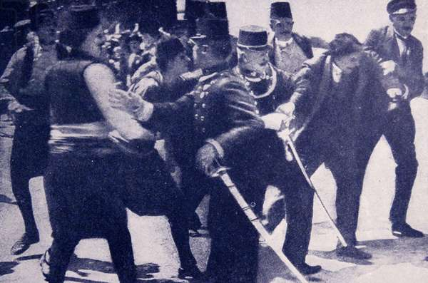arrest of Gavrilo Princip who assassinated Archduke Franz Ferdinand