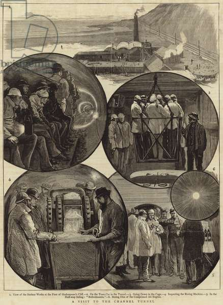 A visit to the Channel Tunnel (engraving)