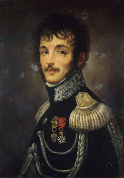 Portrait of Teodoro Lechi (Brescia, 1778-Milan, 1866), Italian general of Cisalpine army, Painting by Andrea Appiani (1754-1817), 1803-1805, oil on canvas, 59x44 cm